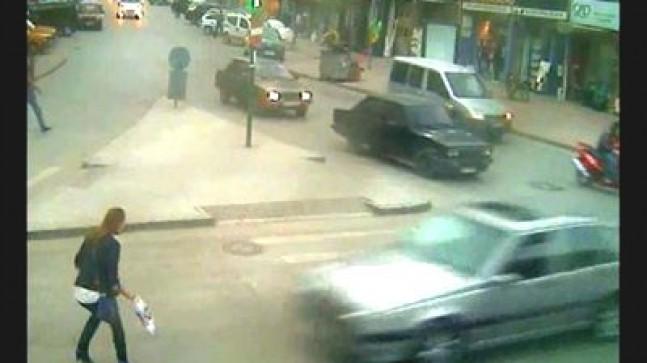 Sivas'taki Trafik Kazaları MOBESE'ye Yansıdı