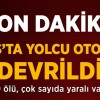 Sivas'ta yolcu otobüsü devrildi:9 ölü