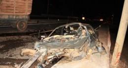 Suşehri'nde trafik kazası:1ölü