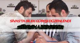 Sivas'ta bilek güreşi yarışması düzenlendi.