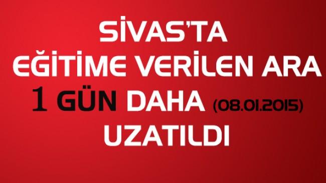 Sivas'ta Eğitime 1 gün ara verildi