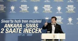 Başbakan Davutoğlu Sivas'ta