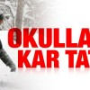 Sivas'ta eğitimek kar engeli
