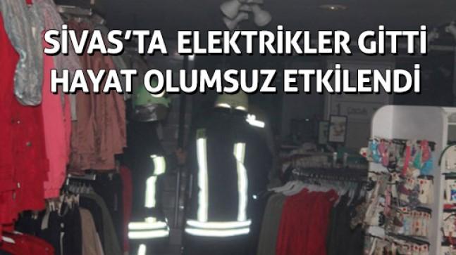 Sivas'ta elektrikler gitti hayat durdu