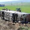 Otobüs şarampole yuvarlandı;50 yaralı