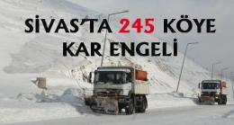 Sivas'ta 245 köy yoluna kar engeli