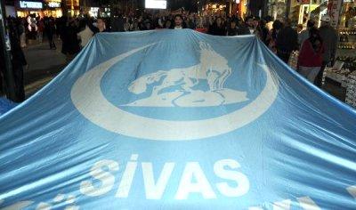 Sivas Ülkü Ocaklarından Çin protestosu