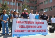 Sivas'ta hastanelerin birleşmesine tepki