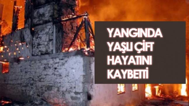 Sivas'ta ev yangını;2 ölü